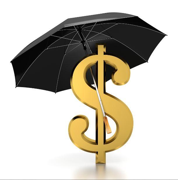 מטריה עם סימן דולר
